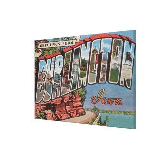 Burlington Iowa - stora brevplatser Canvastryck