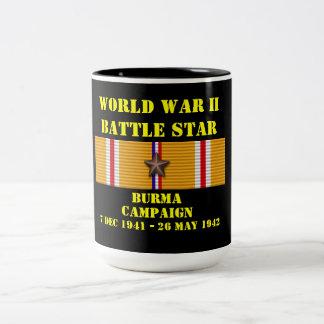 Burma kampanj Två-Tonad mugg