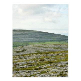 Burren fördunklar bergbackar vykort