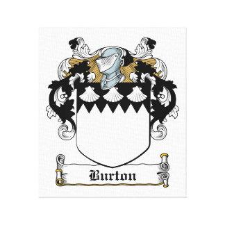 Burton familjvapensköld canvastryck