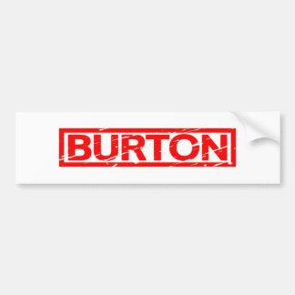 Burton frimärke bildekal