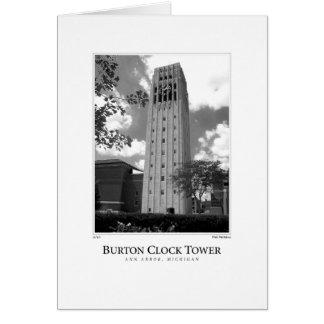 Burton tar tid på torn hälsningskort