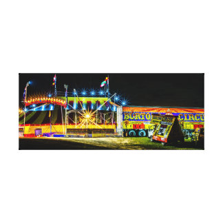 Burtons cirkus vid natt canvastryck