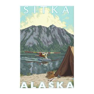 Bush flygplan & fiske - Sitka, Alaska Canvastryck