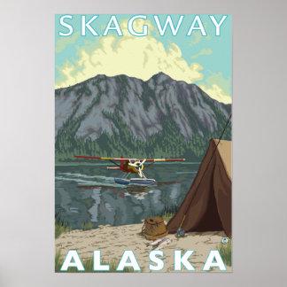 Bush flygplan & fiske - Skagway, Alaska Poster