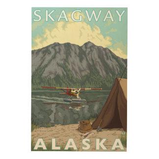 Bush flygplan & fiske - Skagway, Alaska Trätavla