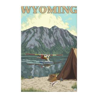 Bush flygplan & fiske - Wyoming Canvastryck
