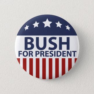Bush för president standard knapp rund 5.7 cm
