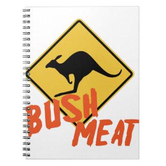 Bush kött anteckningsbok