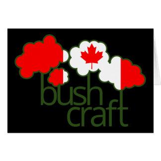 Bushcraft Kanada flagga Hälsningskort