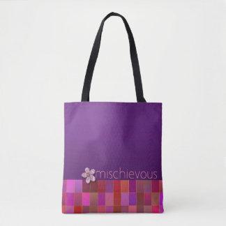 BUSIG - lilor, rosor, kricka - handväska Tygkasse