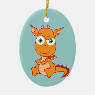 Busigt smila för drake julgransprydnad keramik