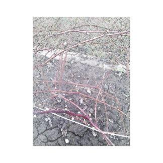 Buskar och stenar canvastryck