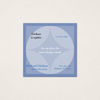 Buss. (Det sq) kortet - cirklar och den grafiska Fyrkantigt Visitkort