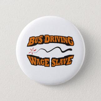 Buss som kör den slav- timpenningen standard knapp rund 5.7 cm