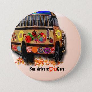 Bussförare att bry sig mellanstor knapp rund 7.6 cm