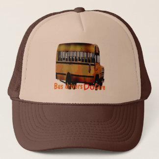Bussförare att bry sig truckerkeps