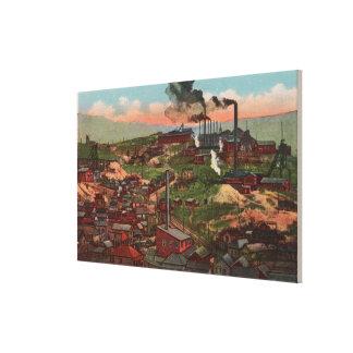 Butten MT - beskåda av fabriker & hem på backen Canvastryck