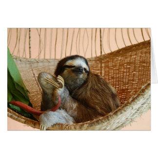 Buttercup slothen hälsningskort