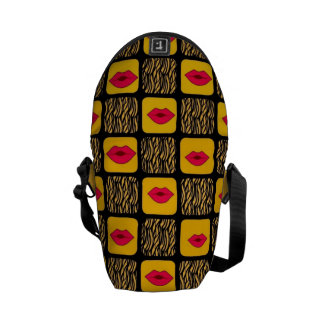 Buttercupläppar/sebramessenger bag kurir väskor