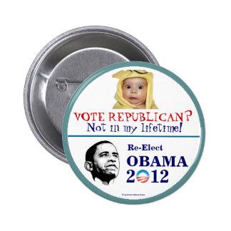 Butto för OBAMA anti-Republikan 2012 politisk pinb Knappar Med Nål