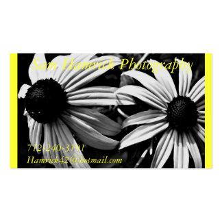 Bw-blomma, appell som bokar en tidsbeställning!! , set av standard visitkort