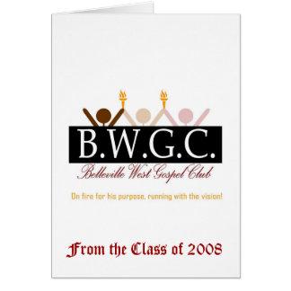 BWGC tackar dig att card Hälsningskort
