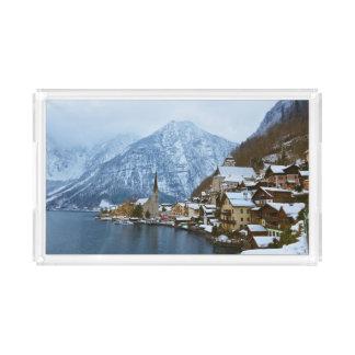 By Hallstatt på sjön - Salzburg Österrike Bricka