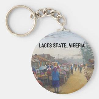 byfolk, STATLIGA LAGOS, NIGERIA Rund Nyckelring