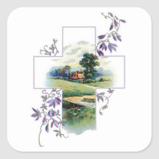Bygdkristenkor Fyrkantigt Klistermärke