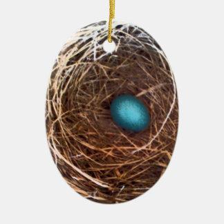"""""""bygga bo och ägg"""" prydnaden vid jessi K Julgransprydnad Keramik"""