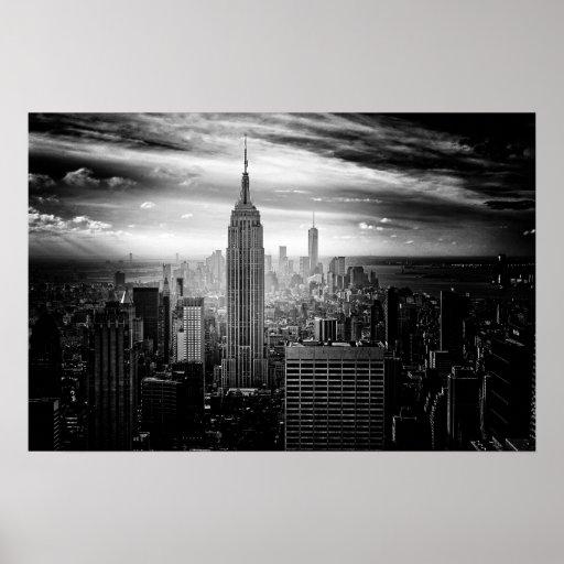 Bygga för New York City empire state Poster