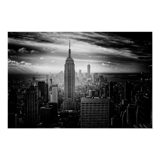 Bygga för New York City empire state Poster