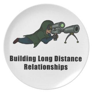bygga långdistans- förhållanden tallrik