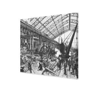 Bygga platsen av de Galerie des-maskinerna Canvastryck