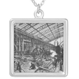 Bygga platsen av de Galerie des-maskinerna Silverpläterat Halsband