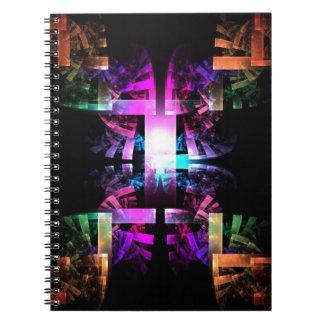 Bygga regnbågen anteckningsbok med spiral