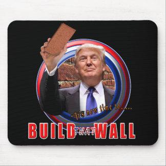 Bygga väggpresidenten Donald Trump Mousepad Musmatta
