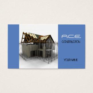 Byggmästare/konstruktionsvisitkort Visitkort