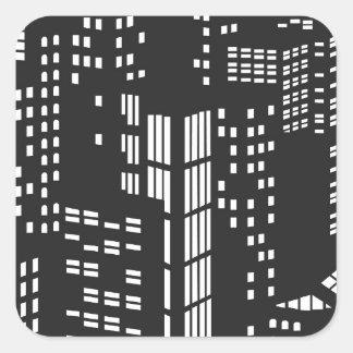 Byggnad byggnader, strukturerar, arkitektur, stad fyrkantigt klistermärke
