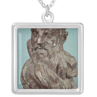 Byst av Auguste Rodin 1909 Silverpläterat Halsband