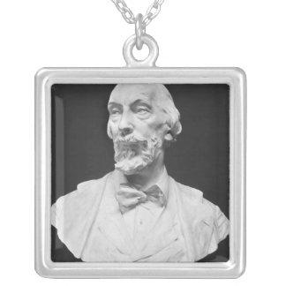Byst av Auguste Vacquerie Silverpläterat Halsband