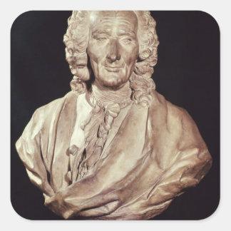 Byst av Jean-Philippe Rameau 1760 Fyrkantigt Klistermärke