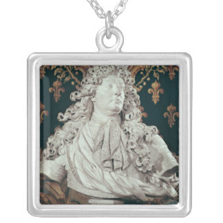 Byst av Louis XIV 1686 Silverpläterat Halsband