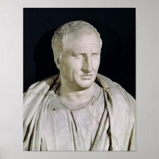 Byst av Marcus Tullius Cicero Poster