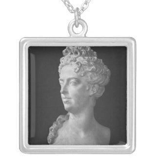 Byst av Marie-Adelaide de Savoie Silverpläterat Halsband