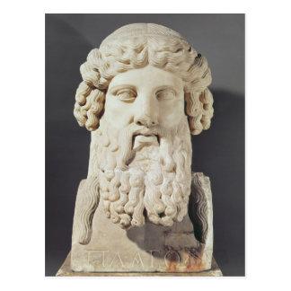 Byst av Plato Vykort