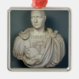Byst av Publius Cornelius Scipio 'Africanus Julgransprydnad Metall