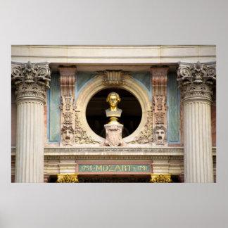 Byst för Mozart operahus Poster