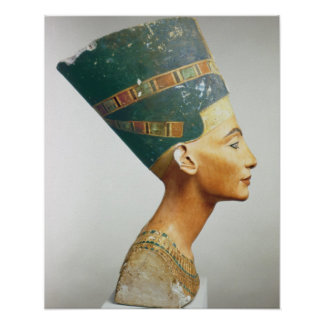 Bysten av drottningen Nefertiti, sida beskådar, fr Poster
